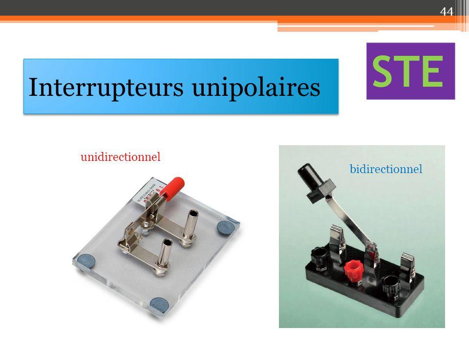 Interrupteurs unipolaires unidirectionnel bidirectionnel 44