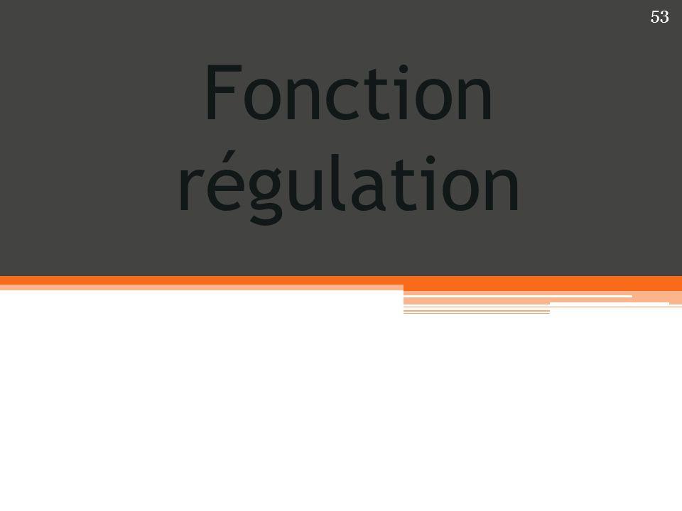 Fonction régulation 53