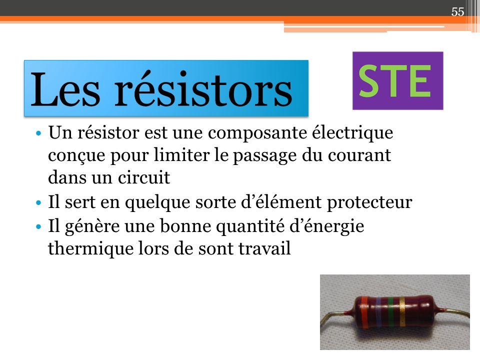 Les résistors Un résistor est une composante électrique conçue pour limiter le passage du courant dans un circuit Il sert en quelque sorte délément pr