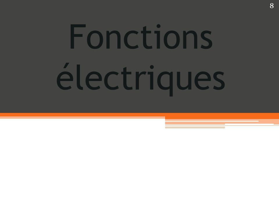 Fonctions électriques 8