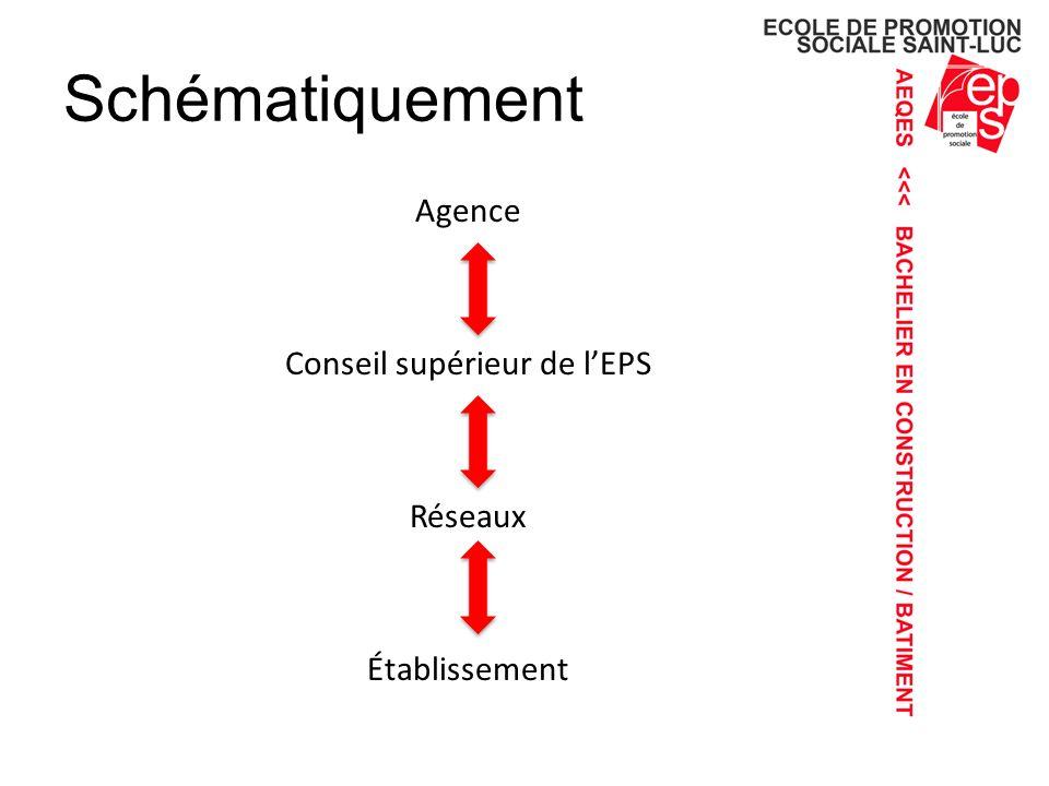 Schématiquement Agence Conseil supérieur de lEPS Réseaux Établissement