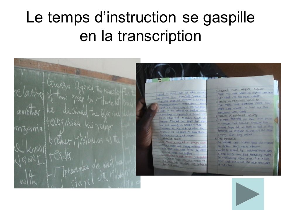 Le temps dinstruction se gaspille en la transcription