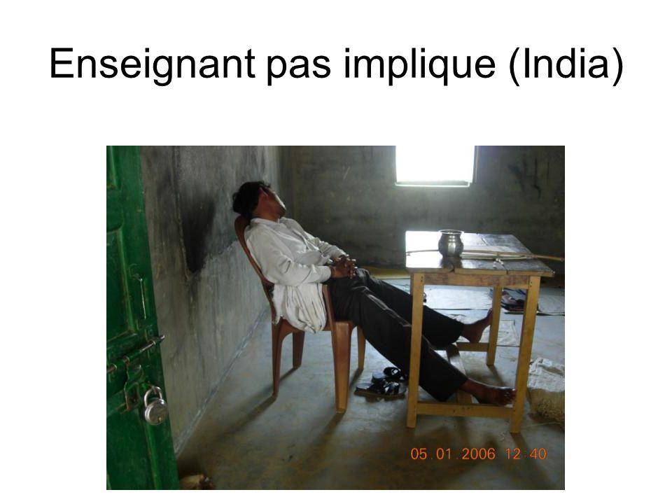 Enseignant pas implique (India)