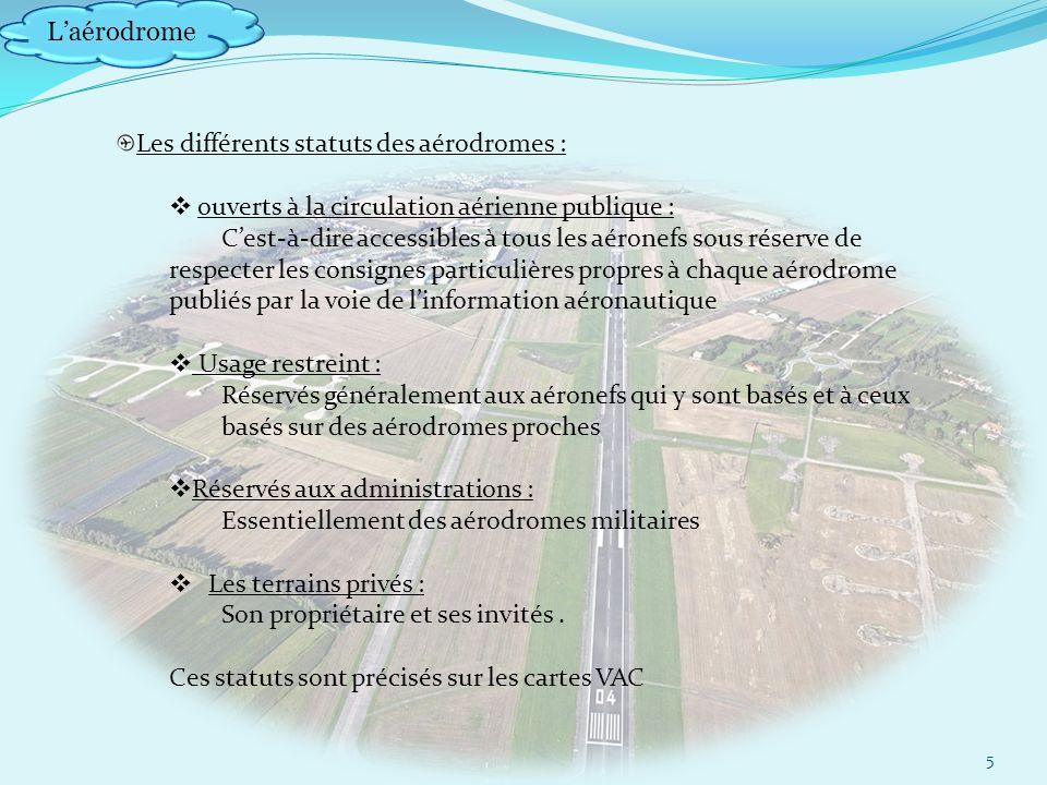Laérodrome 16 Air e de mouvement : ensemble aire trafic et manœuvre.