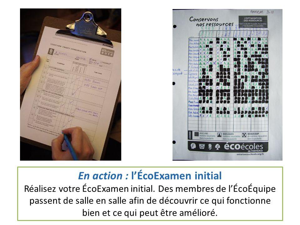 En action : lÉcoExamen initial Réalisez votre ÉcoExamen initial.
