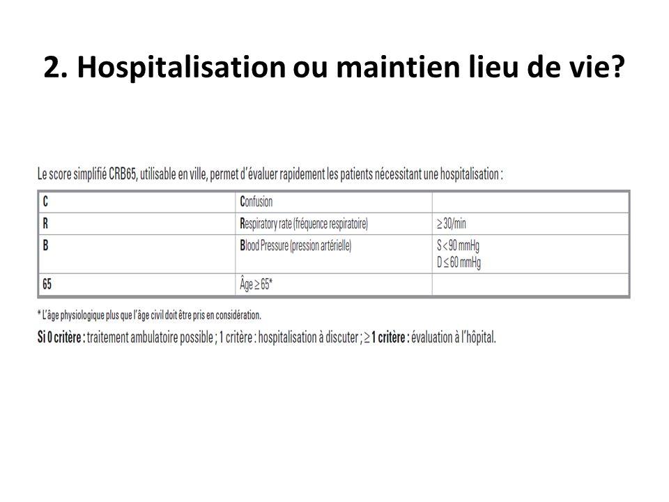 2. Hospitalisation ou maintien lieu de vie?