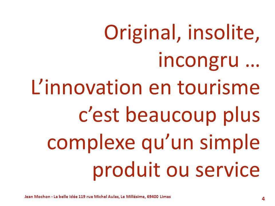 La réponse innovation : quelques nouveaux outils, parmi dautres Jean Mochon - La belle idée 119 rue Michel Aulas, Le Millésime, 69400 Limas55