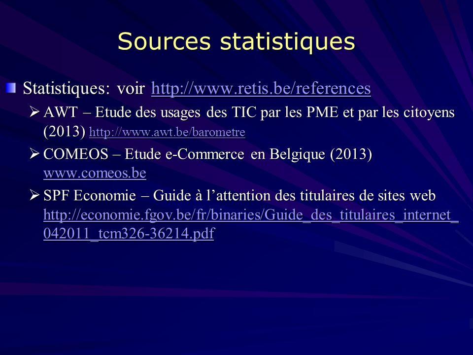 Ressources biblio D. JACOB (2012) – E-Commerce, les bonnes pratiques pour réussir, Edition Edipro, 352p., www.retis.be www.retis.be BRASSEUR Jean-Bapt