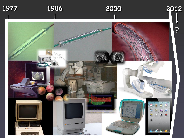 Première endoprothèse coronaire 1977 1986 2000 2012 Première angioplastie coronaire percutanée Premier stent «actif» ? ?