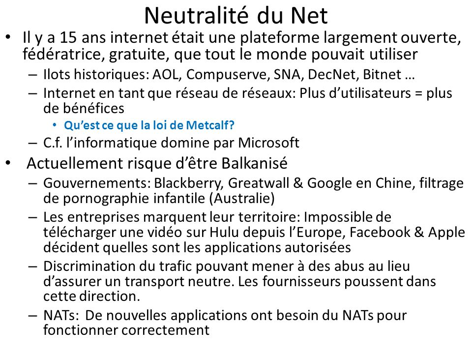 Neutralité du Net Il y a 15 ans internet était une plateforme largement ouverte, fédératrice, gratuite, que tout le monde pouvait utiliser – Ilots his