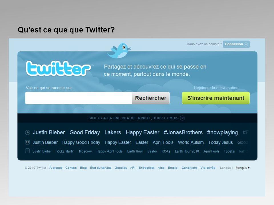 Qu est ce que que Twitter