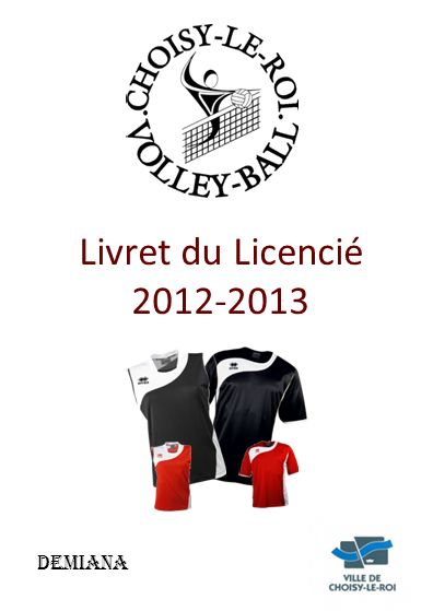 DEMIANA Livret du Licencié 2012-2013
