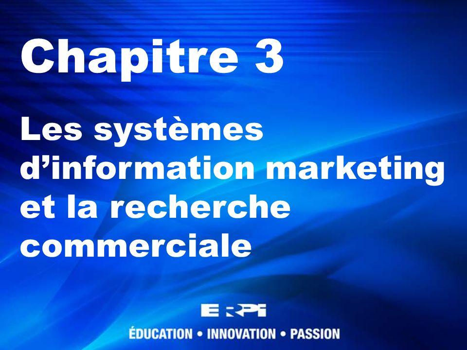 Chapitre 3 Les systèmes dinformation marketing et la recherche commerciale
