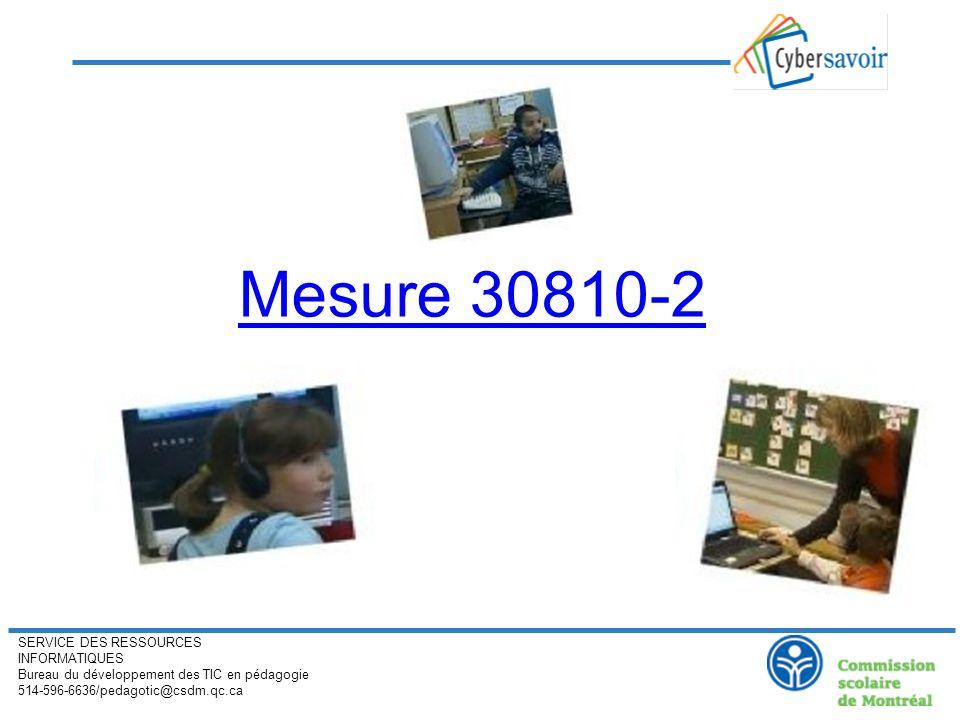 SERVICE DES RESSOURCES INFORMATIQUES Bureau du développement des TIC en pédagogie 514-596-6636/pedagotic@csdm.qc.ca Épreuves numérisées