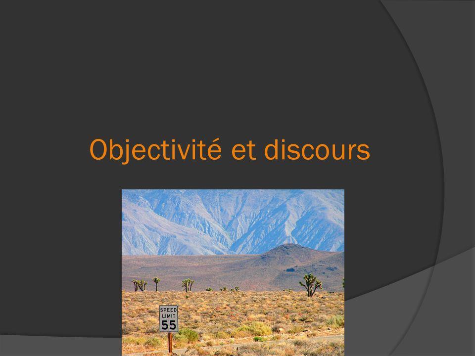 Objectivité et discours