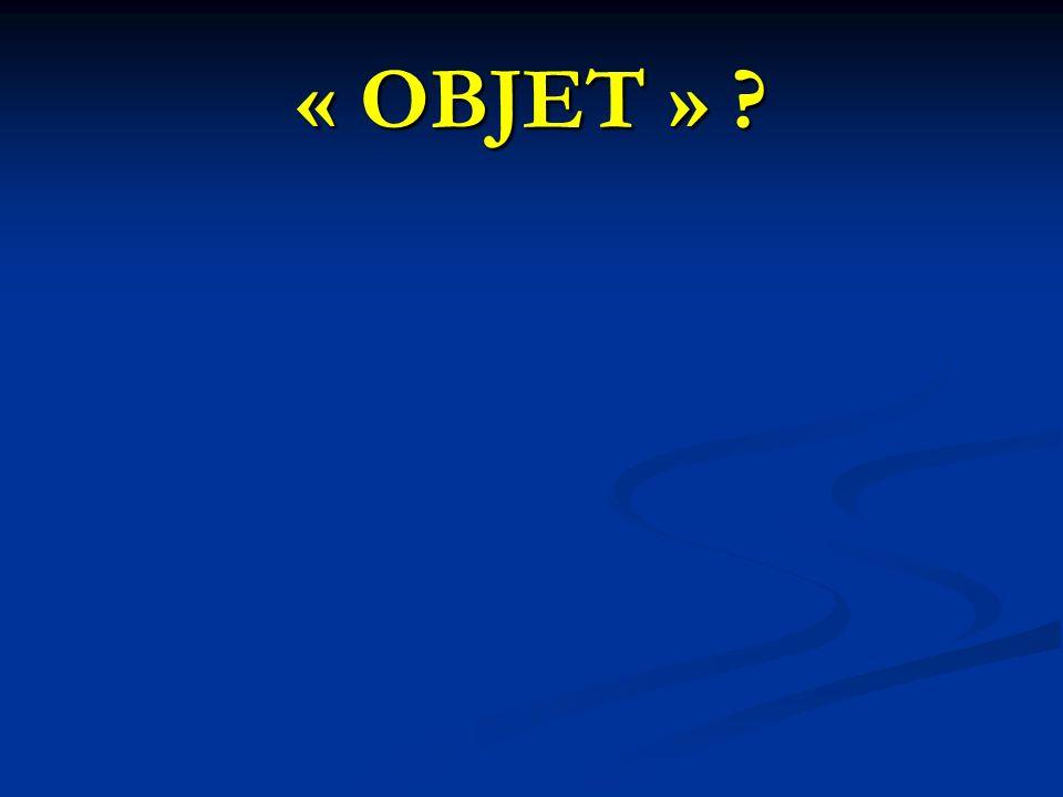 « OBJET » ?