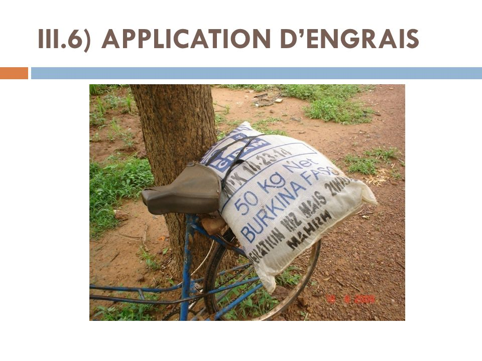 III.6) APPLICATION DENGRAIS