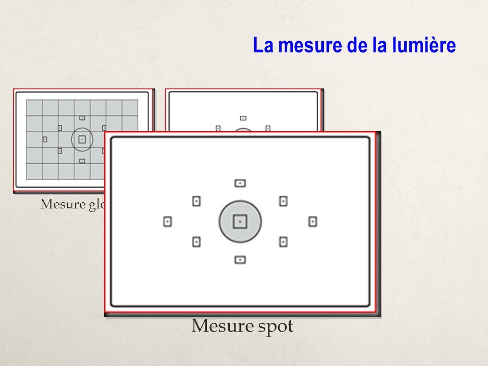 La mesure de la lumière Mesure globale Mesure spot