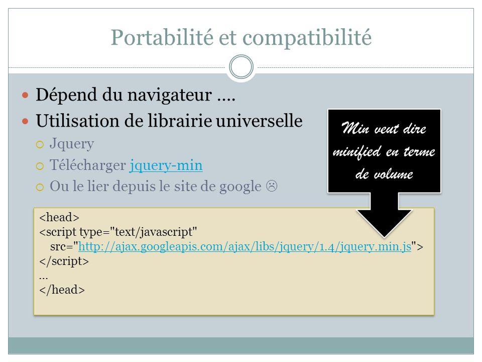 Reprise exemple http://ajax.googleapis.com/ajax/libs/jquery/1.4/jquery.min.js Bonjour Passe la souris function f() { var texteActuel = $( #texte ).html(); texteActuel += world ; $( #texte ).html(texteActuel); } DEMO
