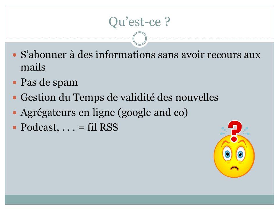 Comment .Un fil RSS est un fichier XML (Vive 431 .