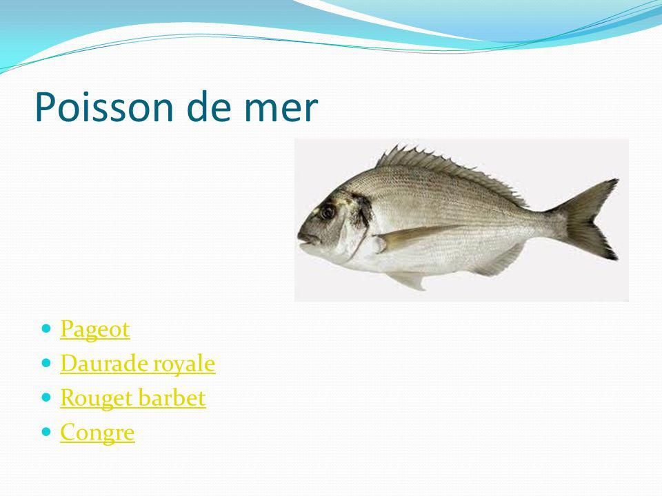 Poisson de mer Barbue Sole Limande Plie