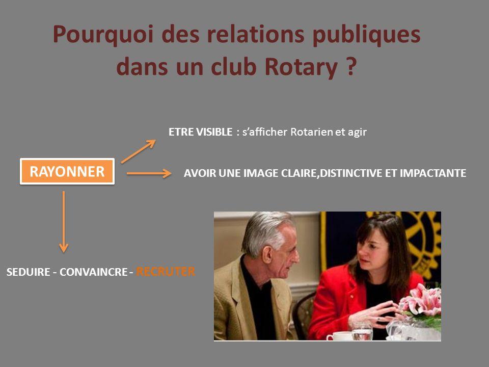 Pourquoi des relations publiques dans un club Rotary .