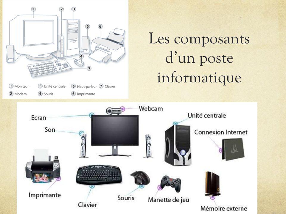 Les composants dun poste informatique