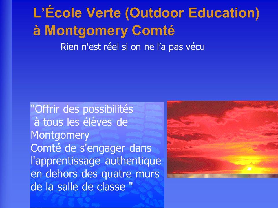 LÉcole Verte (Outdoor Education) à Montgomery Comté