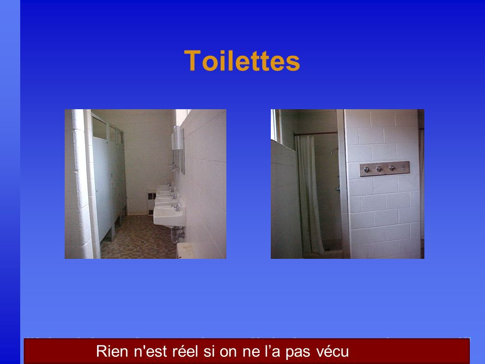 Nothing is real until it is experienced Toilettes Rien n est réel si on ne la pas vécu