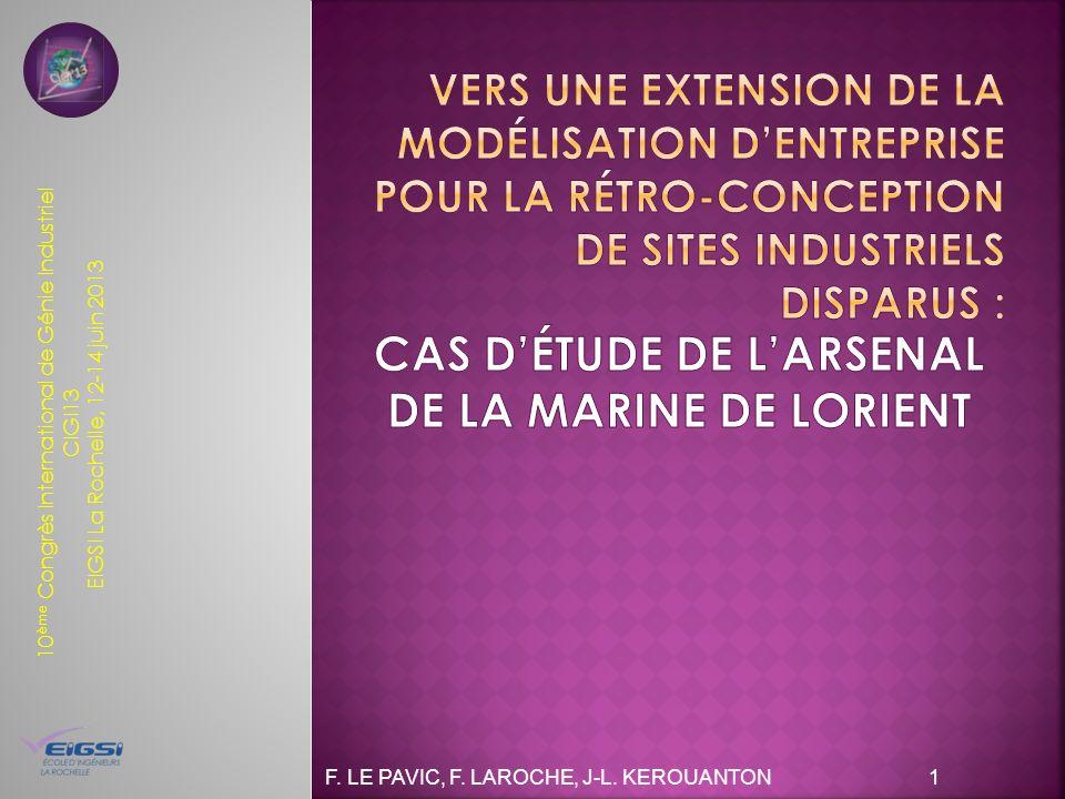 10 ème Congrès International de Génie Industriel CIGI13 EIGSI La Rochelle, 12-14 juin 2013 F. LE PAVIC, F. LAROCHE, J-L. KEROUANTON 1