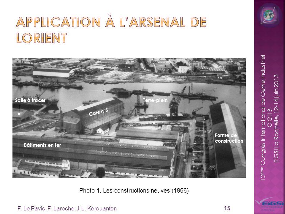 10 ème Congrès International de Génie Industriel CIGI13 EIGSI La Rochelle, 12-14 juin 2013 F. Le Pavic, F. Laroche, J-L. Kerouanton 15 Photo 1. Les co