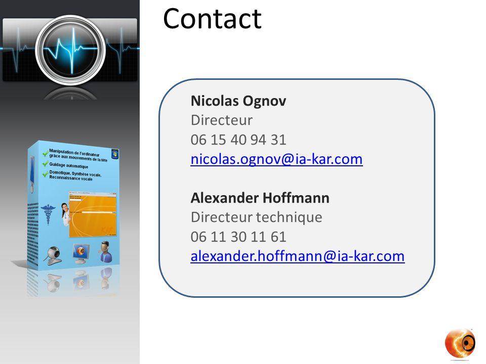 Contact Nicolas Ognov Directeur 06 15 40 94 31 nicolas.ognov@ia-kar.com Alexander Hoffmann Directeur technique 06 11 30 11 61 alexander.hoffmann@ia-kar.com