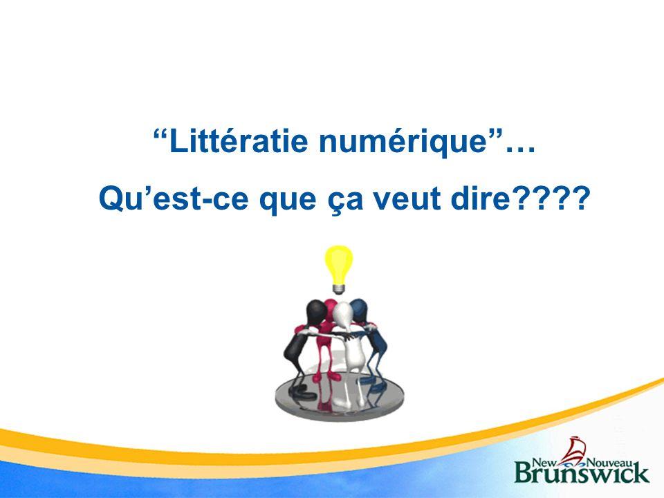 Littératie numérique… Quest-ce que ça veut dire????