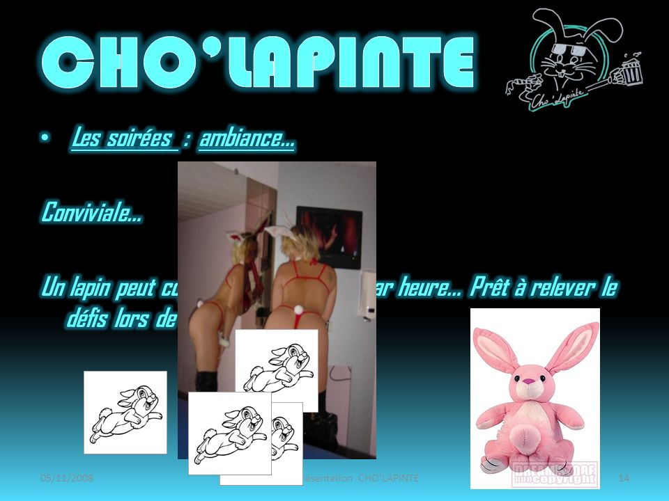 05/11/2008Amphi de présentation CHOLAPINTE14