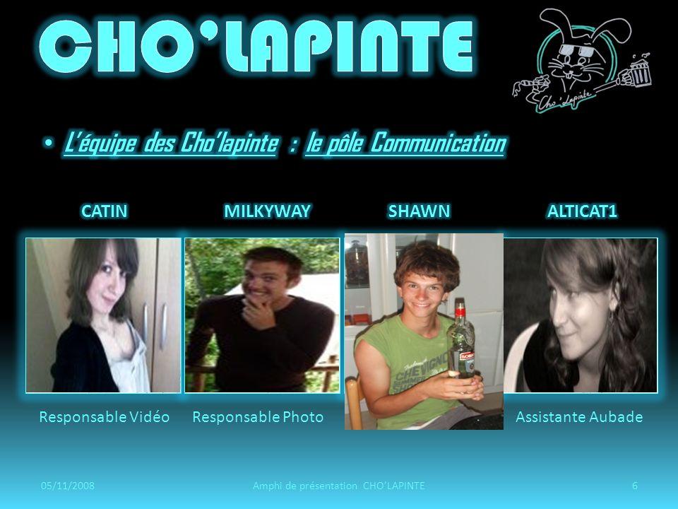 05/11/200817Amphi de présentation CHOLAPINTE