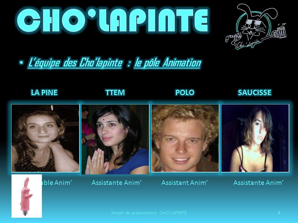 05/11/2008Amphi de présentation CHOLAPINTE19