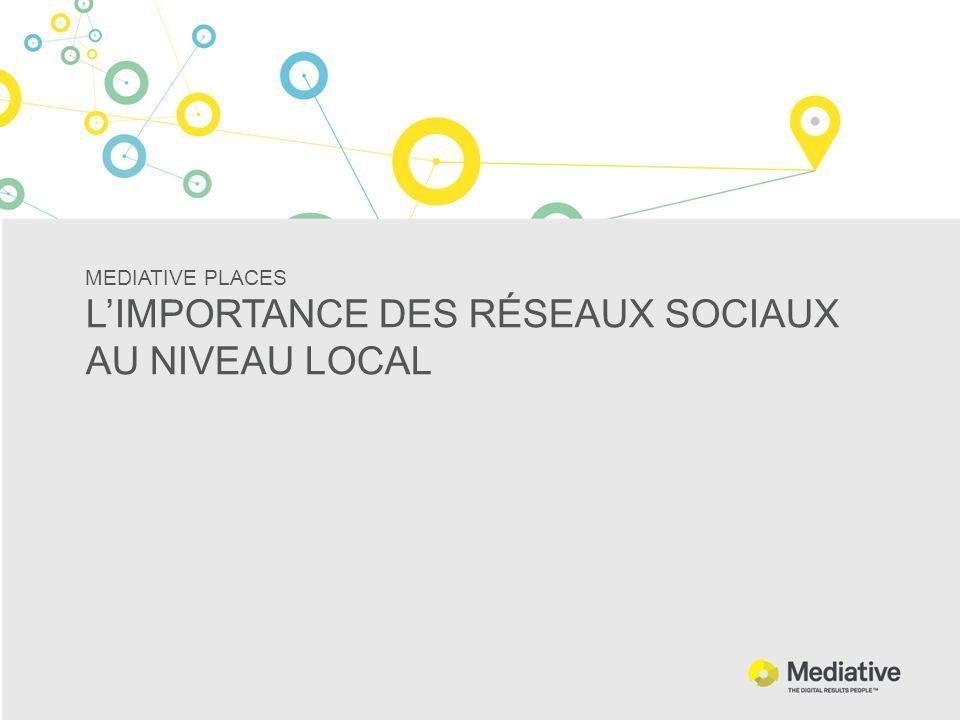 MEDIATIVE PLACES LIMPORTANCE DES RÉSEAUX SOCIAUX AU NIVEAU LOCAL