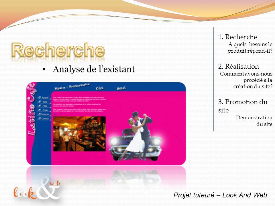 Projet tuteuré – Look And Web 1. Recherche A quels besoins le produit répond-il.