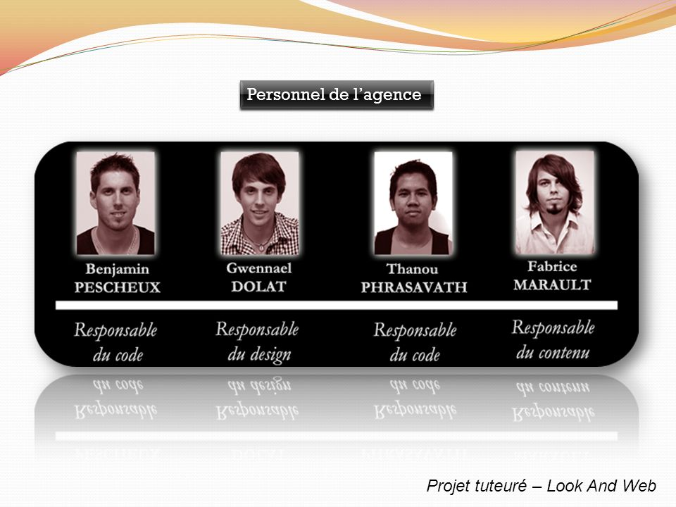 Projet tuteuré – Look And Web Personnel de lagence