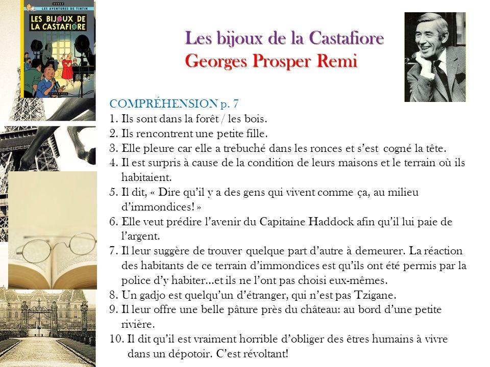 Les bijoux de la Castafiore Georges Prosper Remy