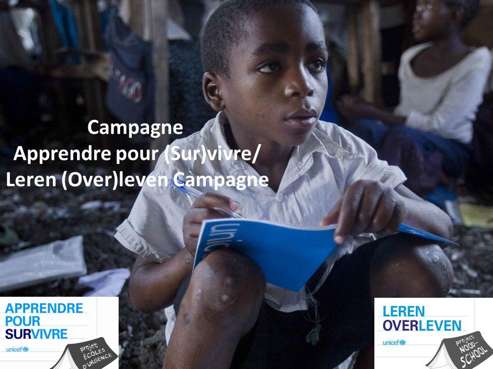 Campagne Apprendre pour (Sur)vivre/ Leren (Over)leven Campagne