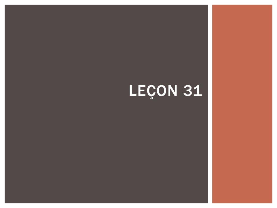 LEÇON 31
