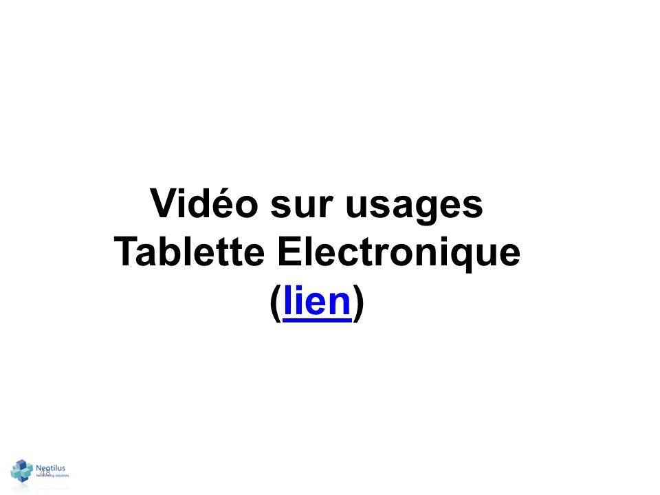 48 Vidéo sur usages Tablette Electronique (lien)lien