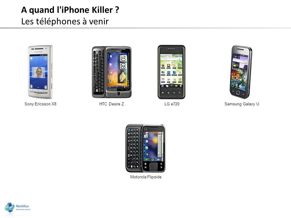 A quand l'iPhone Killer ? Les téléphones à venir Sony Ericsson X8HTC Desire ZLG e720 Motorola Flipside Samsung Galaxy U