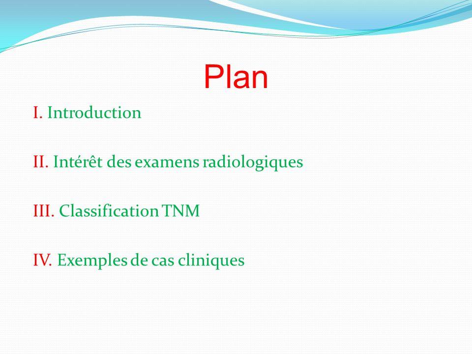 Plan I.Introduction II. Intérêt des examens radiologiques III.