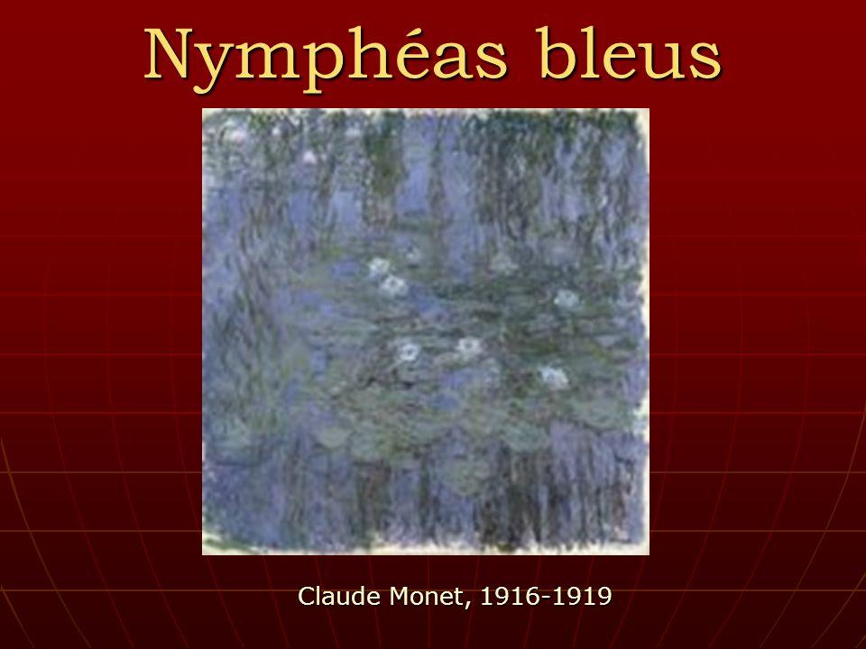 Nymphéas bleus Claude Monet, 1916-1919