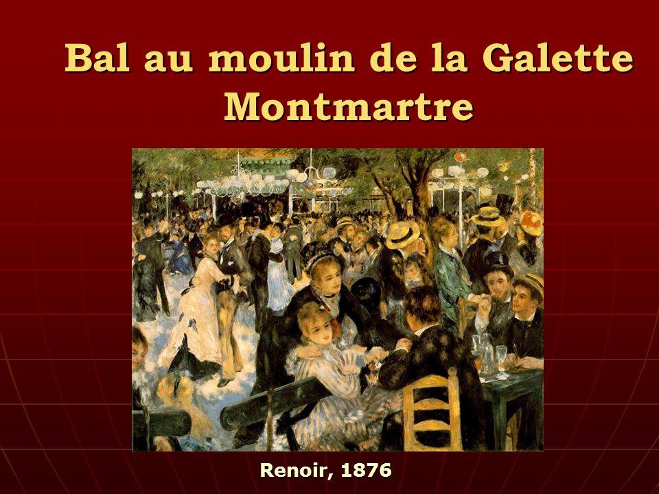 Bal au moulin de la Galette Montmartre Renoir, 1876