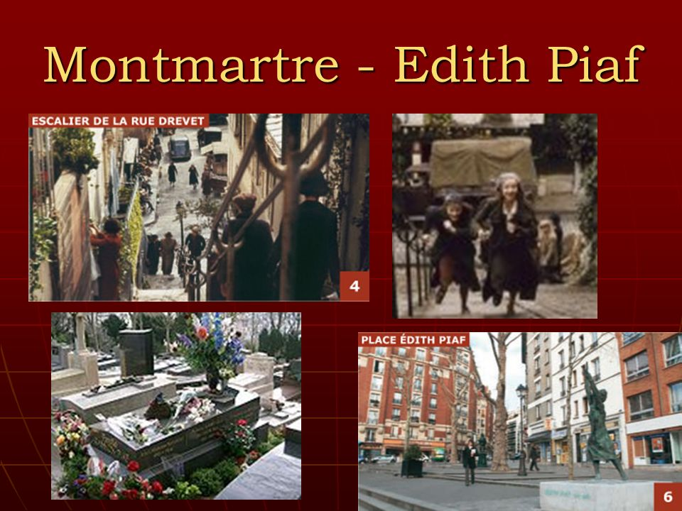 Montmartre - Edith Piaf