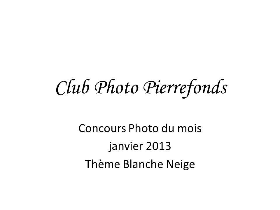 Club Photo Pierrefonds Concours Photo du mois janvier 2013 Thème Blanche Neige