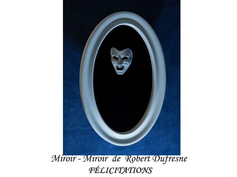 Miroir - Miroir de Robert Dufresne FÉLICITATIONS